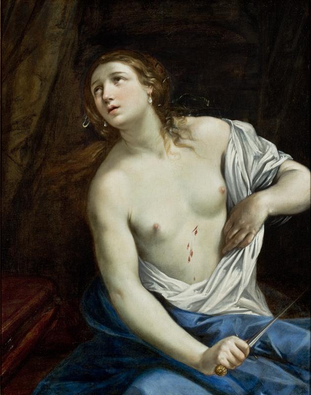 'Suicidio de Lucrecia', de Guido Reni (entre 1625 y 1640). Foto: MASP